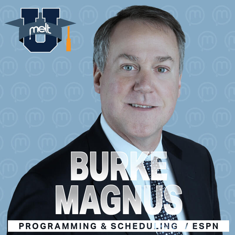 Episode 55: Burke Magnus EVP Programming and Scheduling ESPN